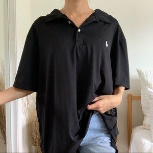 Polo Ralph Lauren Black Collard T-Shirt